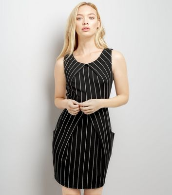 Mela Stripe Pocket Side Tulip Dress