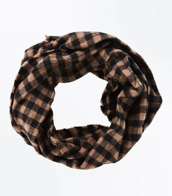 Mink Check Pattern Snood