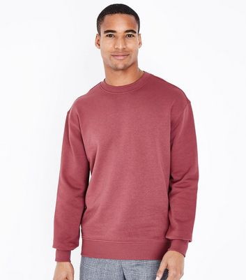Plum Ribbed Panel Sweatshirt