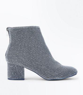 Glitter Heeled Boot - Silver New Look Buy Sale Online z27S9ih