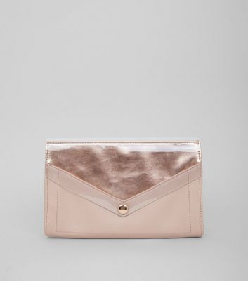 Nude Transparent Panel Clutch Bag
