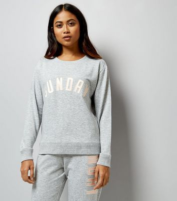 Petite Grey Sunday Applique Lounge Joggers