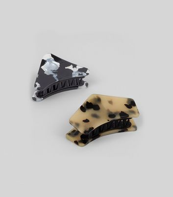 2 Pack Animal and Marble Print Bulldog Clips