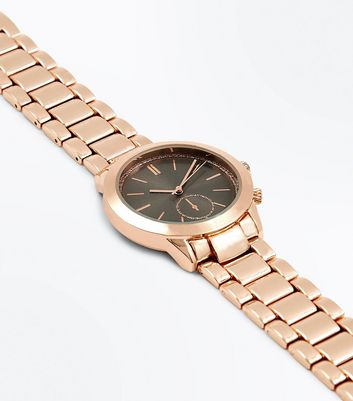 Rose Gold Glitter Dial Sports Watch