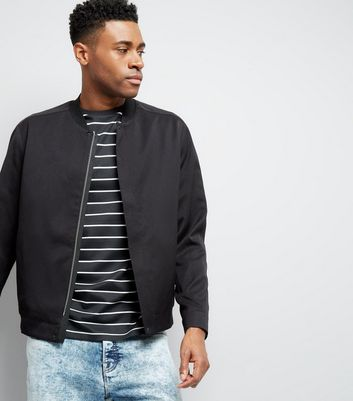 Black Smart Bomber Jacket