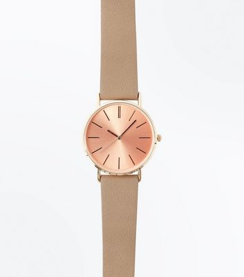 Mink Metallic Dial Watch