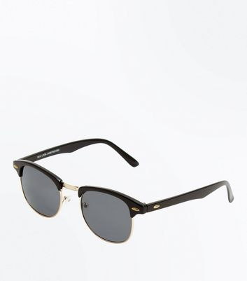 Black Oval Detail Sunglasses