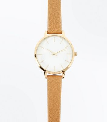 Light Brown Strap Watch