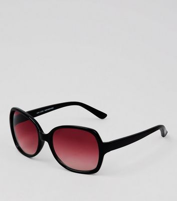 Black Contrast Lens Oversized Sunglasses
