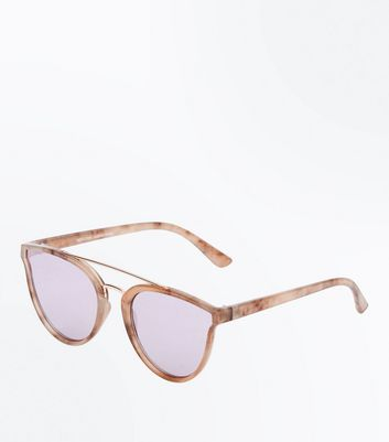 Pink Marble Look Sunglasses