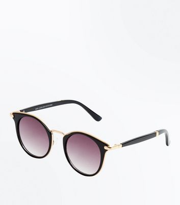 Black Gold Detail Sunglasses