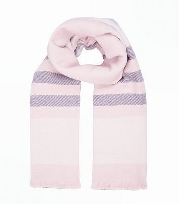 Pink Check Print Oversized Scarf