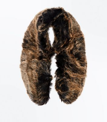 Tan Faux Fur Collar