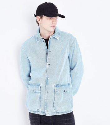 Light Blue Denim Coach Jacket