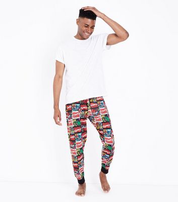 Multi Colour Marvel Print Pyjama Joggers