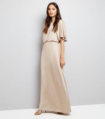 Mela Gold Kimono Sleeve Maxi Dress | New Look