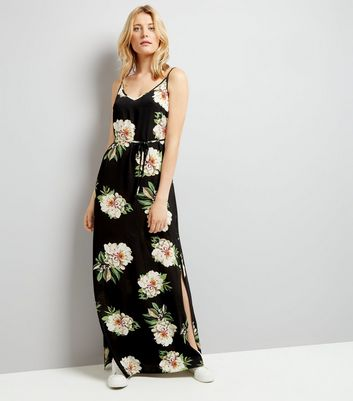 AX Paris Black Floral Maxi Dress