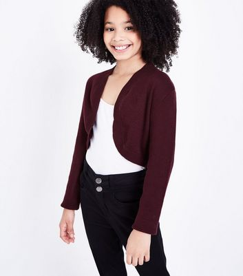 Teens Burgundy Shrug