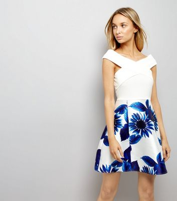 AX Paris Blue Floral Print Dress