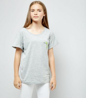 Teens Grey Tea Rex Slogan T-Shirt