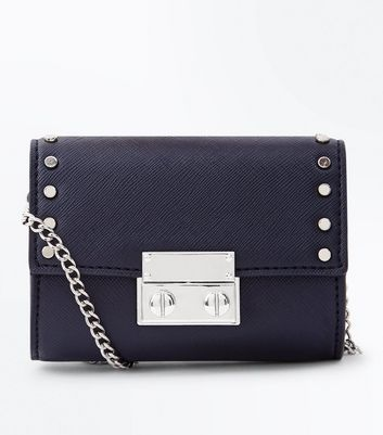 Black Cross Body Studded Micro Bag