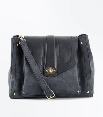 Black Structured Shoulder Bag