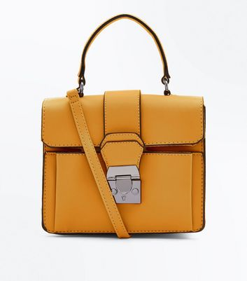 Yellow Top Handle Bag