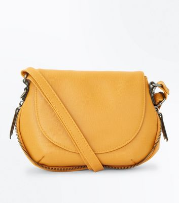 Yellow Curve Shape Saddle Bag