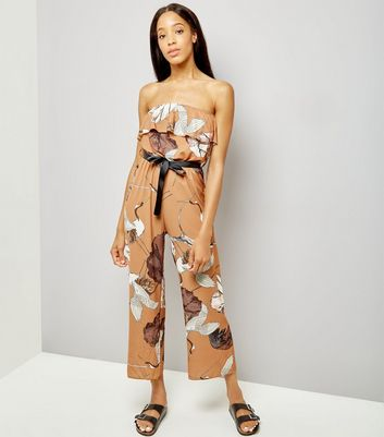 Loving This Brown Bird Print Jumpsuit