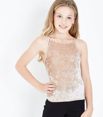 Teens Gold Velvet Cami