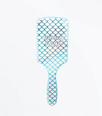 Green Mermaid Squad Paddle Hair Brush
