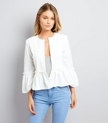 Cameo Rose White Frill Hem Jacket