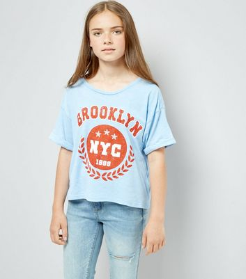 Teens Blue Brooklyn T-Shirt