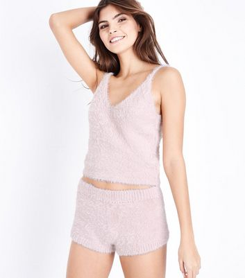 Pink Fluffy Cami and Shorts Pyjama Set