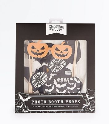 Black And Orange Halloween Photo Booth Props