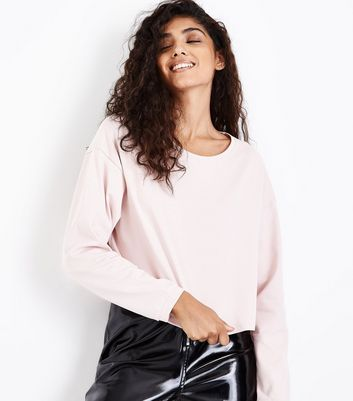 Pink Crew Neck Long Sleeve Top