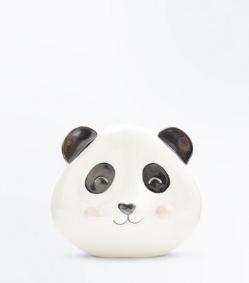 Black Panda Ceramic Money Box