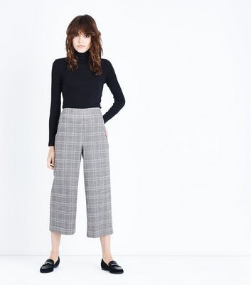 Stone Check Cropped Trousers