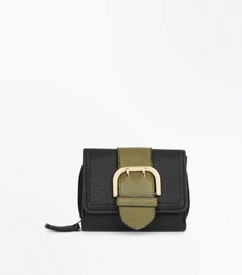 Black Buckle Front Purse