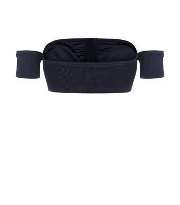 New Look - Haut de bikini noir à col Bardot et fermeture par agrafes - 3