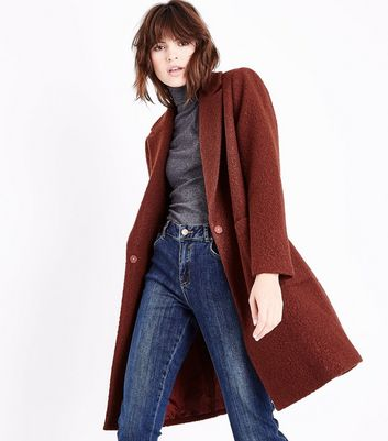 Rust Cocoon Coat