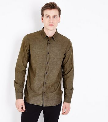 Lost Society Khaki Dip Dye Shirt