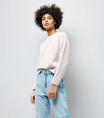 Pale Pink Chenille Jumper