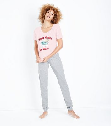 Tall Pink You Guac My World Slogan Pyjama Set