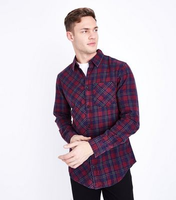 Red Washed Check Shirt