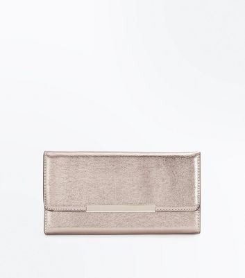 Pewter Foldover Purse Clutch