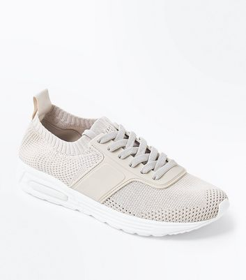 Stone Knit Texture Running Trainers