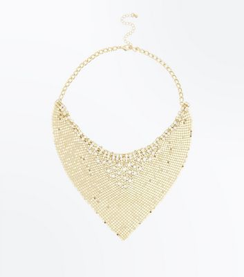 Gold Statement Chainmail Necklace