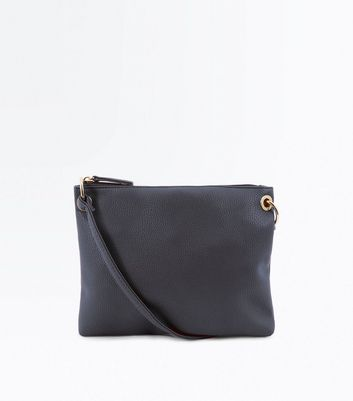 Black Ring Side Cross Body Bag