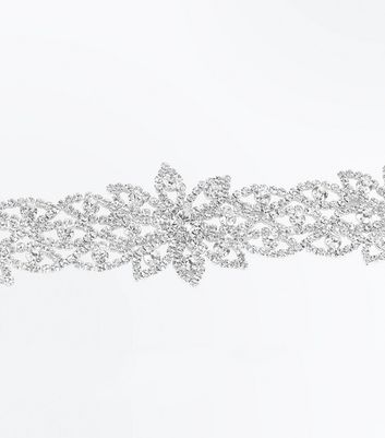 Crystal Flower Wide Choker